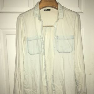 Urban Outfitters Faded Button Down Jean Shirt